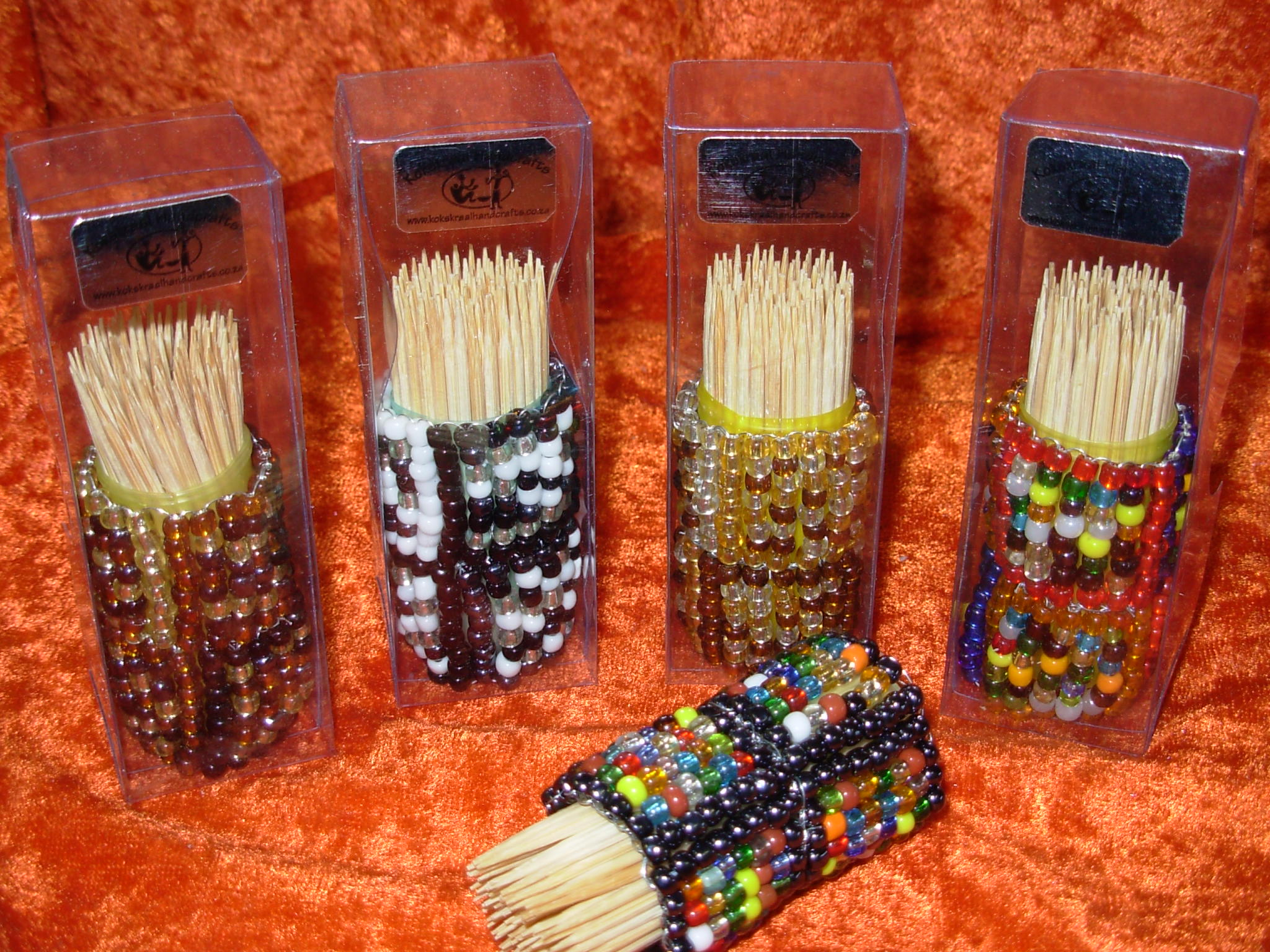 Beaded Toothpick Holder